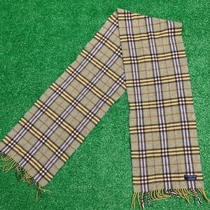 Burberry Plaid Scarf Lambswool